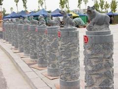 石雕屬相,12生肖石雕