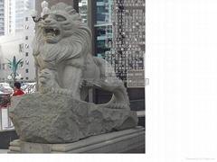 嘉祥石獅子石雕匯豐港獅
