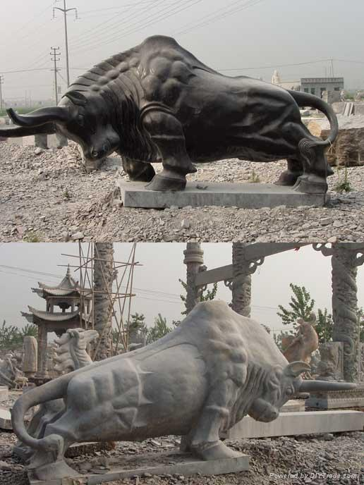 牛石雕拓荒牛 1