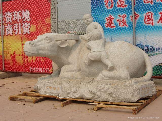 牛石雕拓荒牛 5