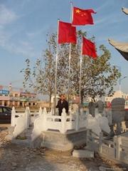 石雕旗台欄杆橋欄