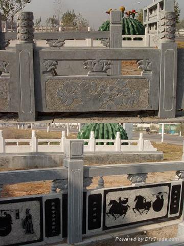 石雕旗台栏杆桥栏 3