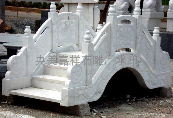 石雕旗台栏杆桥栏 5