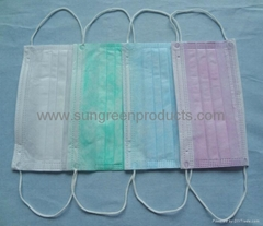 Surgical nonwoven face m