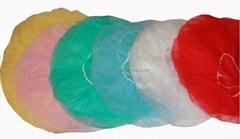Disposable nonwoven bouffant cap