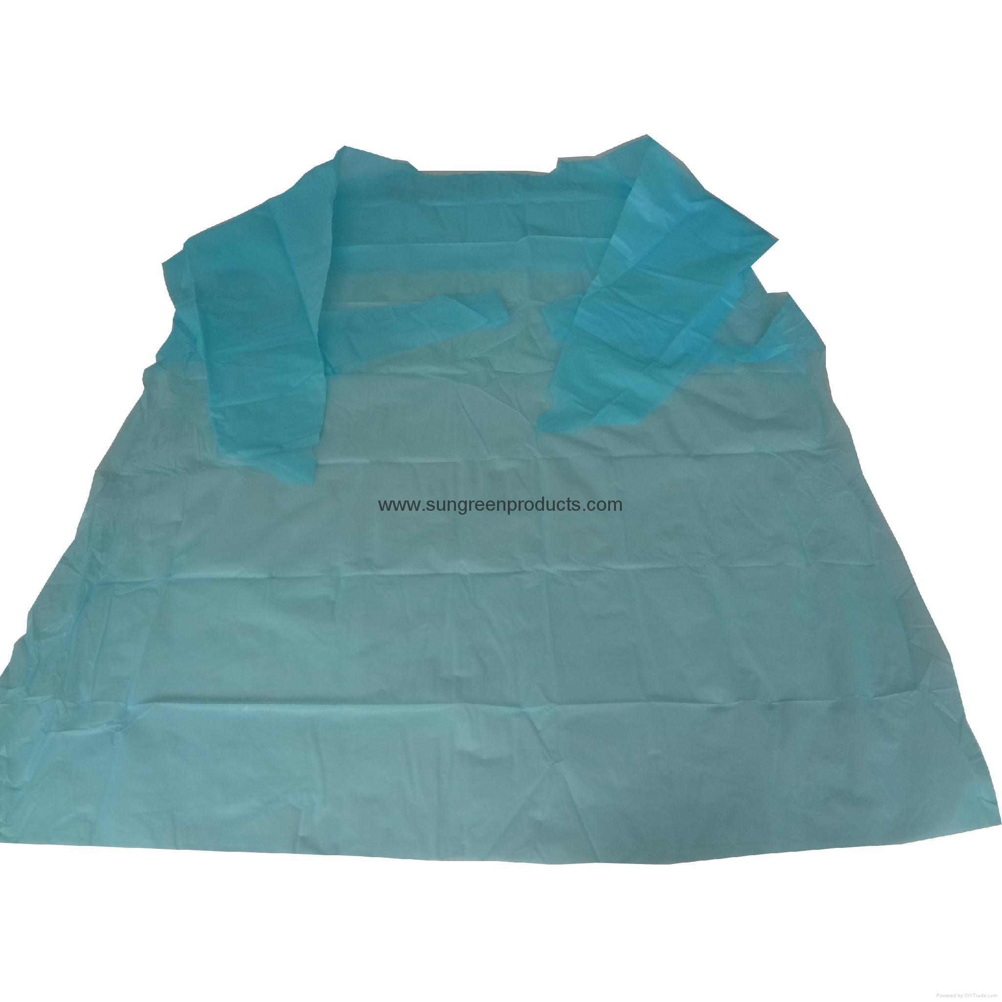 Disposable CPE gown 1