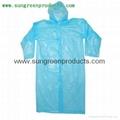 Disposable PE raincoat