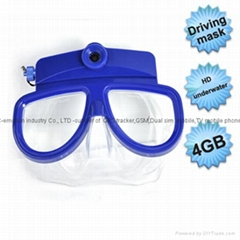 Diving Mask DVR camera with high clear video 4GB blue color