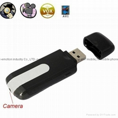 HD USB Disk Motion Detection Video Camera TF card Slot