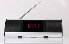 The Newest Hi-Rice Portable MINI Speaker mental case+TF+USB Slot+card reader+FM