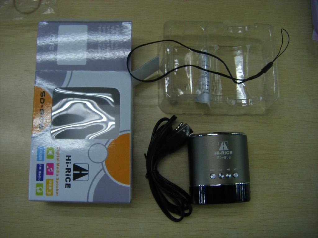 Newest Original Speaker Hi-Rice Potable Mini Speakers Sd-808 TF&USB slot  3