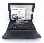 Bluetooth keyboard for IPAD 2/3 +leather case