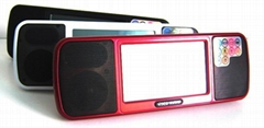 Newest 4.3 INCH Touch screen Mp5 Player with 2*Speaker with USB&TF SLot to pay M