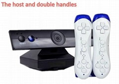 32bit wireless tv video game console with 2 controllers game for children built