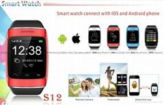 ZGPAX S12 Wearable Smartwatch,Camera Media Message Control/Hands-Free Calls
