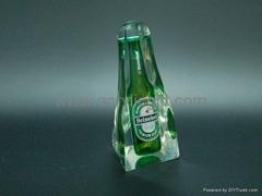 水晶胶内埋酒瓶