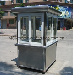 Stainless steel steel bus-stop shelter