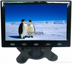 7inch  Car slim design Digital stand LCD Monitor with Touch botton