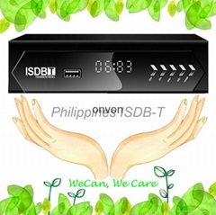 VCAN1047 Philippines Home ISDB-T Digital TV Receiver TV Plus black box MPEG4 HDM