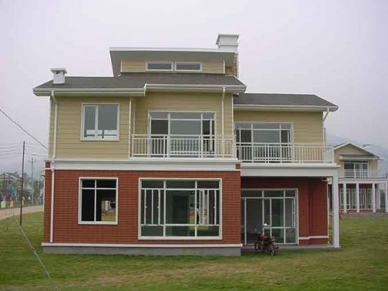 Steel prefabricated house modular home 001 steelvilla for Prefab steel houses