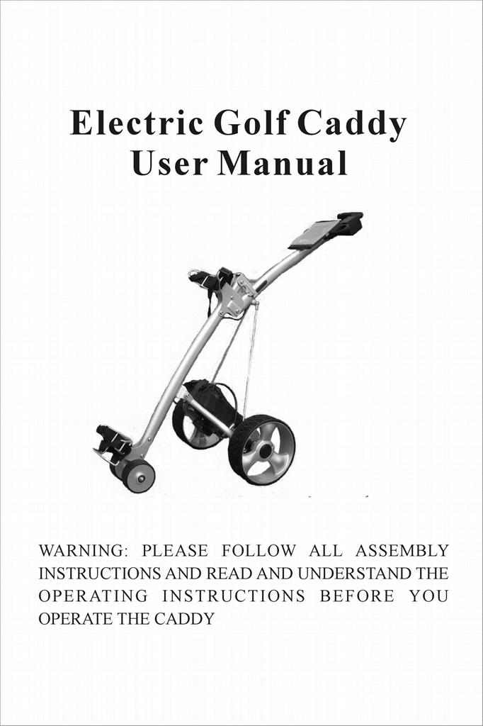 106E shark electrical golf trolley