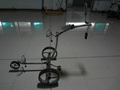 Remote stainless steel golf trolley