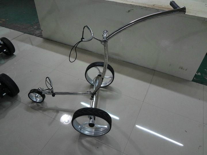 Electrical stainless steel golf trolley 1
