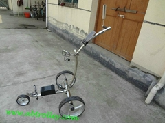 Electric stainless steel golf trolley