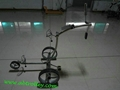007R remote control stainless steel golf trolley