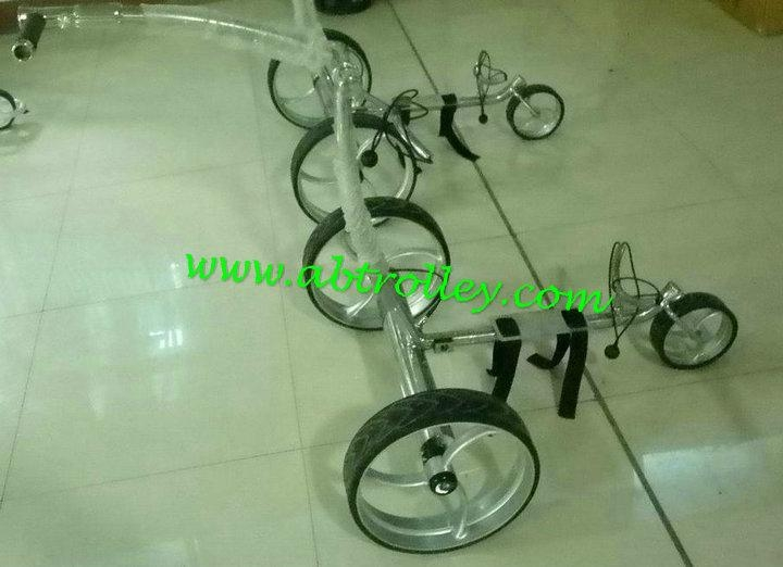 Stainless steel golf trolley 1