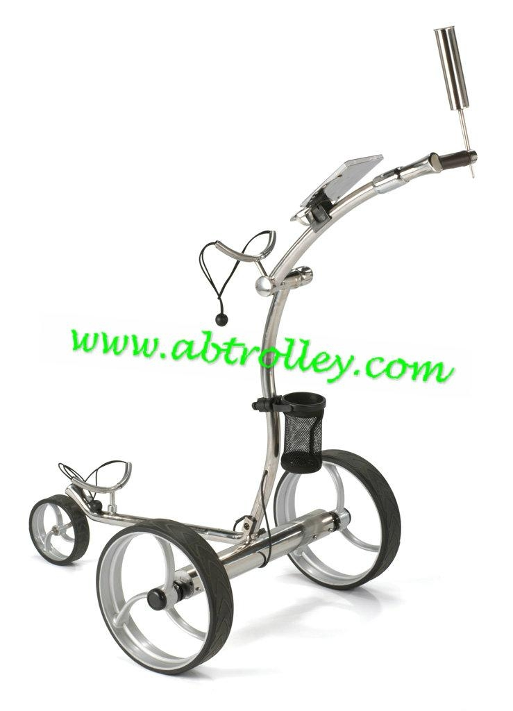 Stainless steel electric golf trolley,GOOD FUNCTION golf trolley 1