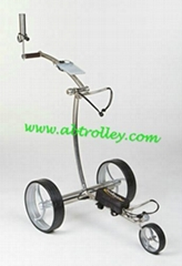 Stainless steel electric golf trolley