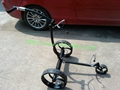 Black stainless steel remote golf trolley