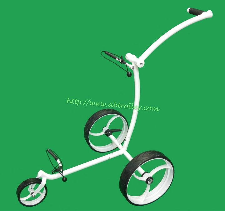 Classic wave design Stainless Steel push golf trolley 1