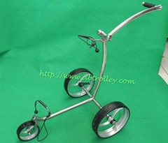 Noble wave design Stainless Steel push golf trolley