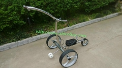 High degree Stainless steel Golf Trolley with double linix motors