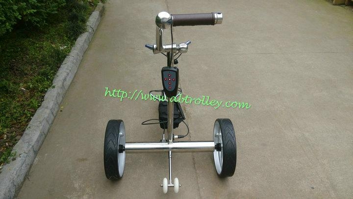 Hot Stainless steel Golf Trolley with double linix motors 1