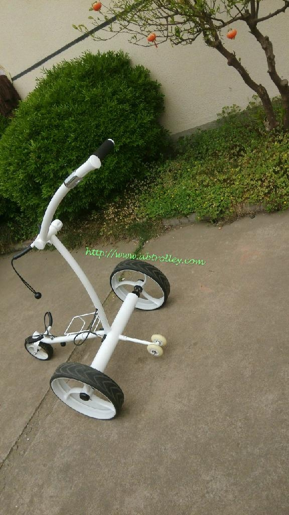 Noble Remote Electric Stainless steel Golf Trolley of double quite motors 1