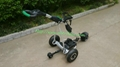 Newest Remote Control Electric Golf Trolley with pneumatic tire air tire 1