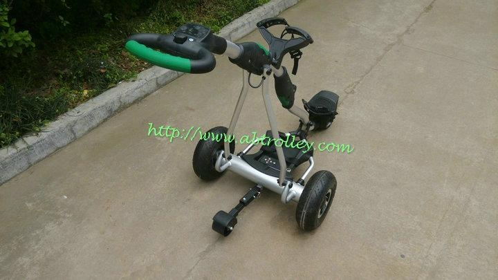 Newest Remote Control Electric Golf Trolley with pneumatic tire air tire 2