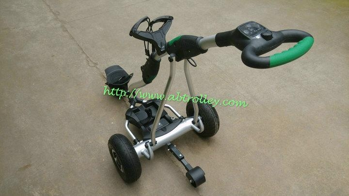 2018 Newest Remote Control Electric Golf Trolley with pneumatic tire air tire 3