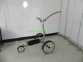 Wave shaped Germany stainless steel golf trolley with lithium battery