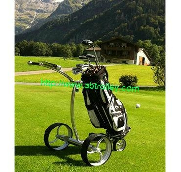 Patented finest light stainless steel electric golf trolley 2