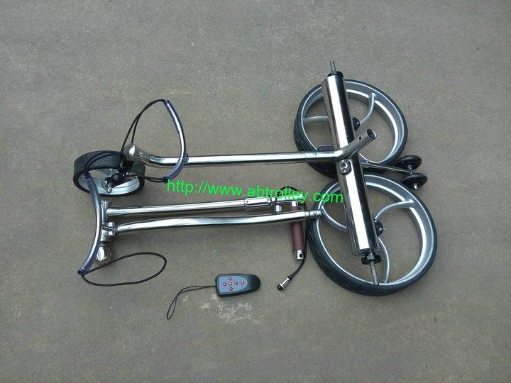 Stainless steel remote golf trolley, remote control golf trolley 7