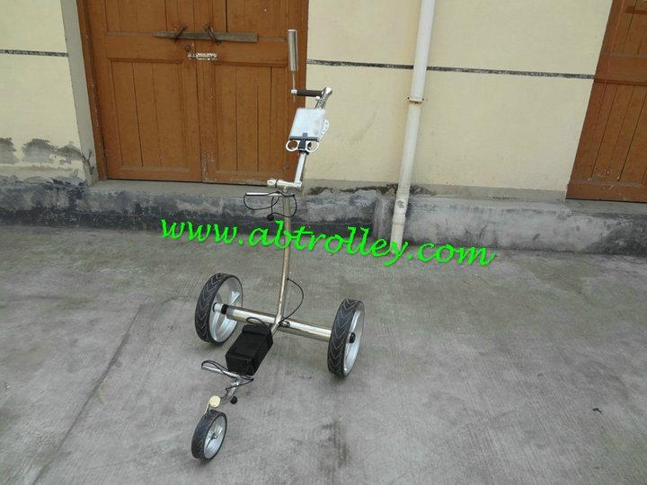 Patented finest light stainless steel electric golf trolley 4
