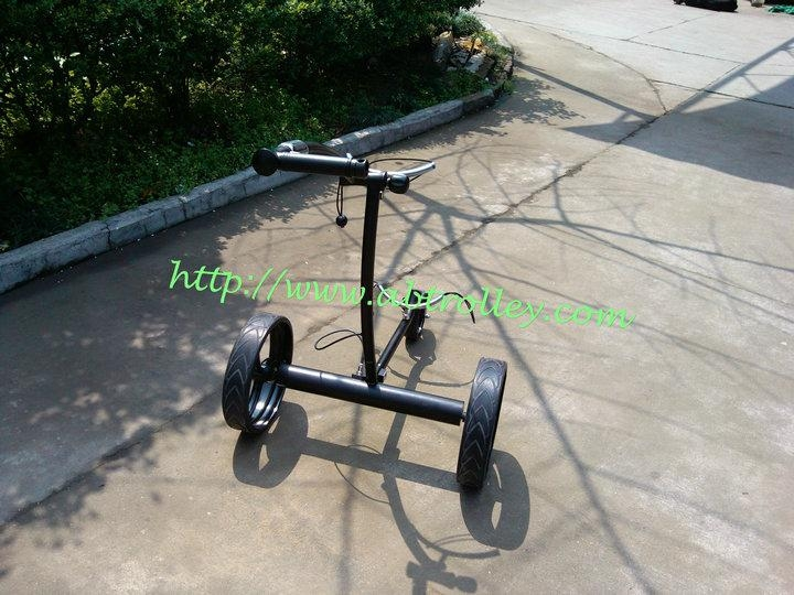 Patented finest light stainless steel electric golf trolley 7
