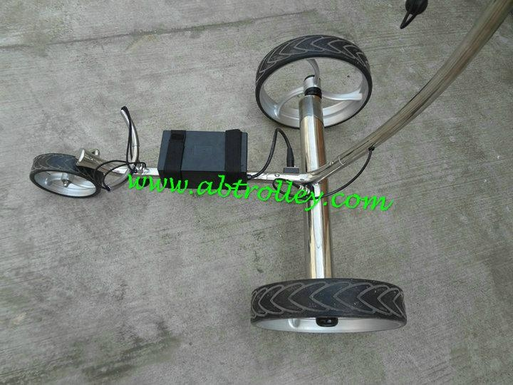 Patented finest light stainless steel electric golf trolley 15