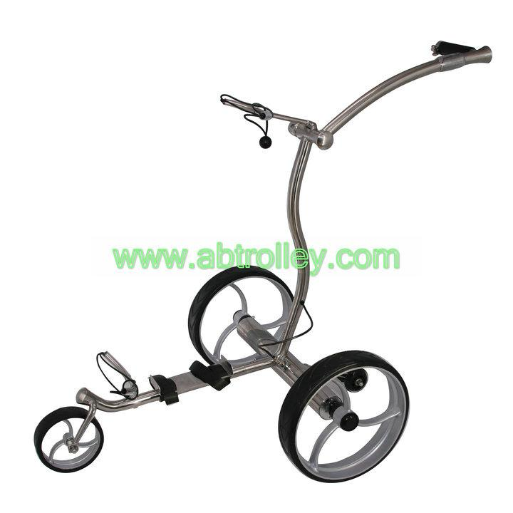 2019 high grade stainless steel golf trolley with double