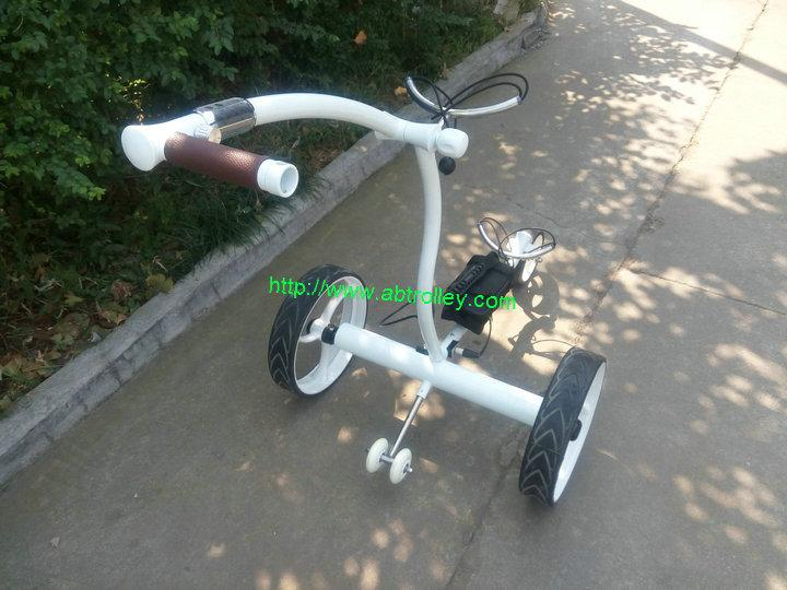 White Noble Remote Electric Stainless steel Golf Trolley of double linix motors 6