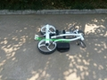 White Noble Remote Electric Stainless steel Golf Trolley of double linix motors 7